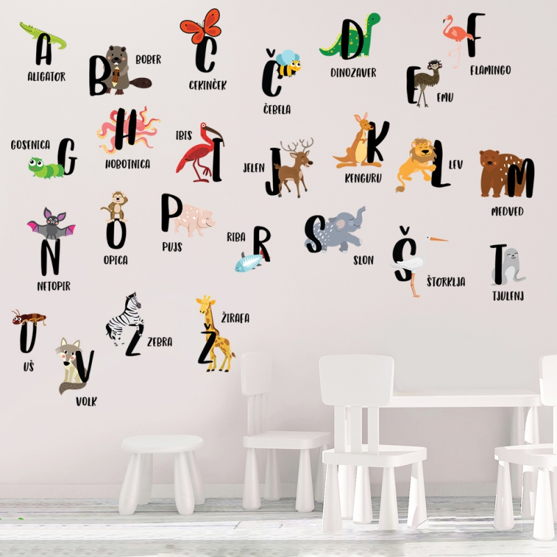 nalepka z abecedo